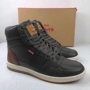 Levi's Stanton Burnished High Top Sneaker Shoes